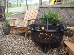 Large Firepit Rubbed Bronze Outdoor Firebowl Wad792sp