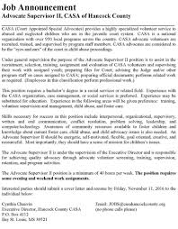 child advocate job description volunteer child advocate with