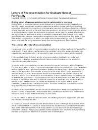 recommandation letter sample graduate evaluation