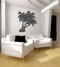 palm wall decor for tropical themed living room ideas with white palm wall decor for tropical themed living room ideas with white armchairs and honey oak floor