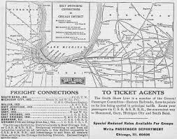 Chicago Brown Line Map by The Chicago South Shore And South Bend Railroad