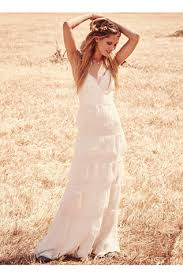 tiered lace maxi free people