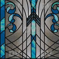 Papier Peint Art Nouveau Vit191 Stained Glass Sticker Art Deco Deco Vitres