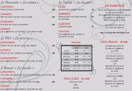 cuisine des sentiments la carte du restaurant la cuisine des sentiments à perpignan 60