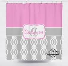 Pink And Grey Shower Curtain by Geometric Blood Red Shower Curtain From Tablishedworks On Etsy