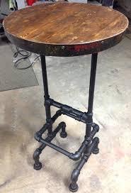 Reclaimed Wood Bistro Table Industrial Bistro Table Ohfudge Info