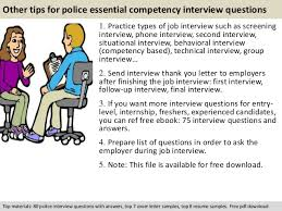Competency Based Resume Sample by Police Essential Competency Interview Questions