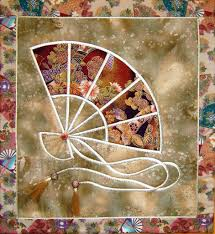 Asian Wall Fans by Japanese Fan Quilted Wall Hanging Pattern By Pat Archibald