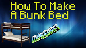 How To Make Bunk Beds In Minecraft PE YouTube - Minecraft bunk bed