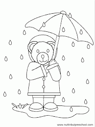 rain coloring pages coloring home