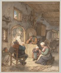 reading the news at the weavers u0027 cottage adriaen van ostade