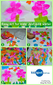 easy art for kids just add water kidspot