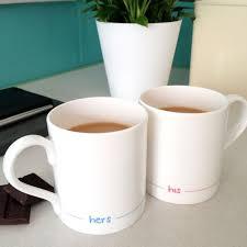 his and mug hers and his bone china mugs