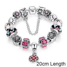 silver beaded charm bracelet images Silver glass bead charm bracelet morrison empire high end jpg