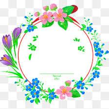 Blue Flower Vine - hand painted blue flower vine wedding invitation wedding