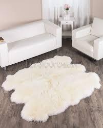 Lamb Skin Rugs Skillful White Fur Rugs Creative Decoration Snow True White Faux