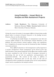 using probability impact matrix in analysis and risk assessment pro u2026