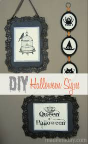 Halloween Home Decor Catalogs by Diy Halloween Signs