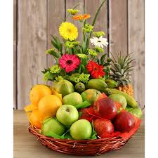 fruit and flowers fruits and flowers basket