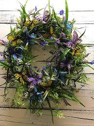 butterfly wreath for front door spring wreath summer wreath