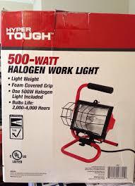 500 watt halogen light hyper tough 500 watt halogen work light tools machinery in