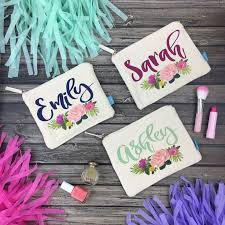 bridal party makeup bags best 25 personalized makeup bags ideas on team