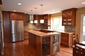 cherry shaker kitchen cabinets cherry shaker kitchen kitchen detroit by cole wagner cabinetry
