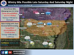 national weather forecast map up to 2 inches of forecast for part of arkansas national