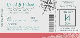 boarding pass invitations knots and kisses wedding stationery and inspired