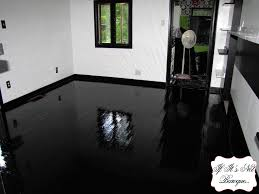 Can I Paint My Laminate Floor Black Kitchen Laminate Flooring Imanada Painted Floor High Gloss