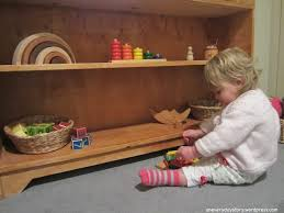 Montessori Bedroom Toddler Montessori Bedroom For Toddlers Low Shelves And Toys Materials For
