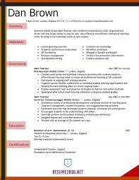 teaching resume template resume exles 2016 for elementary school