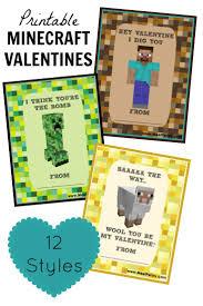 minecraft s day cards free printable minecraft valentines day cards free printable
