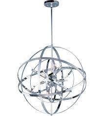 Sphere Ceiling Light by Maxim 25133pc Sputnik 9 Light 25 Inch Polished Chrome Single