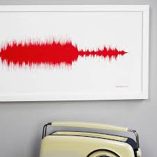 personalised your song sound wave print by newton and the apple