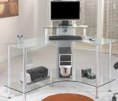 Z Line Belaire Glass L Shaped Computer Desk Small Z Line Belaire Glass L Shaped Computer Desk Crustpizza