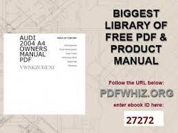 2010 audi a4 owners manual audi 2004 a4 owners manual pdf