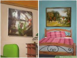 how to hang canvas art without frame how to frame a canvas with pictures wikihow