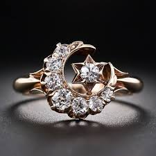 star wedding rings images Victorian crescent moon and star diamond ring good lord i love jpg
