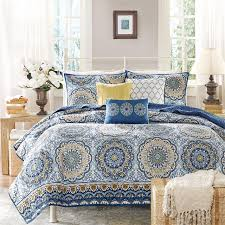 Moroccan Bed Sets Park Tangiers 6 Coverlet Set Blue