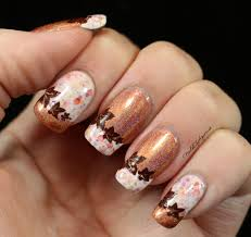 pumpkin spice latte french tip nail art feat kbshimmer latte