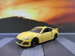 subaru yellow subaru brz 2012 present tomica series no 6 first limited edition