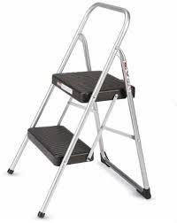 kroger cosco 2 step household folding step stool platinum black