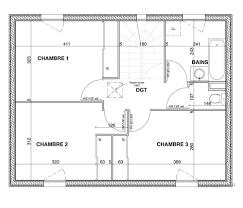 plan de maison gratuit 4 chambres plan maison 100m2 4 chambres 1 lzzy co