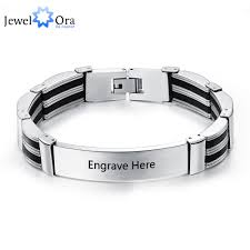 personalized engraved bracelets aliexpress buy titanium steel personalized engrave bracelets