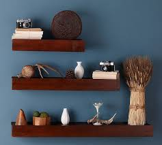Wood Gallery Shelves by Space Saving Rustic Wood Ledge