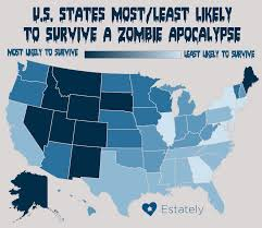 50 States And Capitals Map by Does Your State Have What It Takes To Survive A Zombie Apocalypse