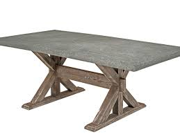French Beam Weathered Concrete U Teak Round Dining Table Kate - Round outdoor dining table australia