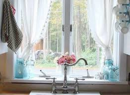 Kitchen Window Curtain Ideas Curtain For Kitchen Window Kitchen Cintascorner Curtains For