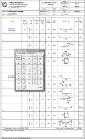 Schedule Spreadsheet Excel Bar Bending Schedule Spreadsheet To Is 2502